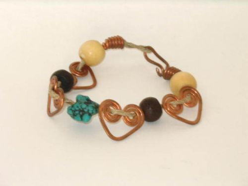 Hand Crafted Celtic Heart Bracelet