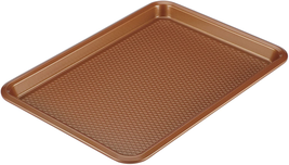 Nonstick Bakeware Cookie Sheet Baking Sheet Easier Release Copper Brown - $15.32