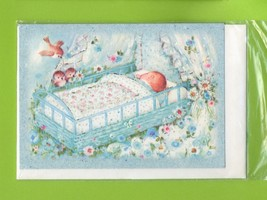Sweetest Newborn Baby Boy. 3 pcs. Small Double Folded Cards With Envelopes - $5.25