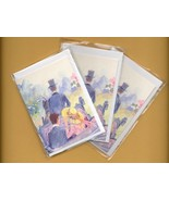 Romantic carriage ride. 3 pcs. Small Double Fol... - $5.25