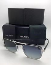 New Prada Sunglasses Conceptual Spr 59U 1BC-8Z1 60-17 145 Silver w/Blue Gradient - $359.95