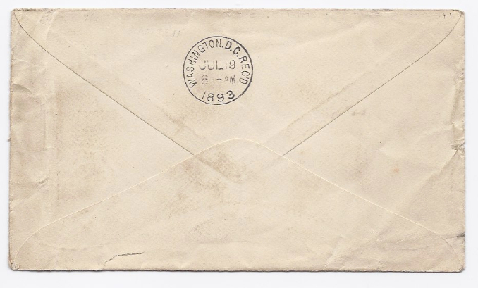 1893 Hebbardsville OH Defunct/Discontinued Post Office (DPO) Cover