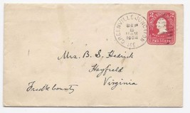 1904 Greenville Junction ME Vintage/Hayfield VA DPO Cover  - $9.95
