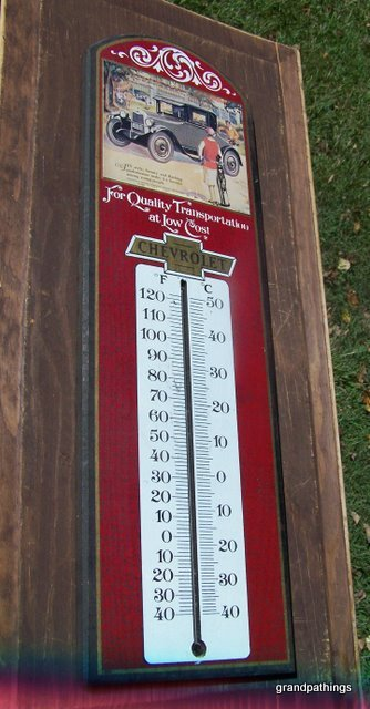 Chevrolet wood thermometer 001