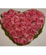 Heart Shaped Pink Roses Centerpiece - $7.95