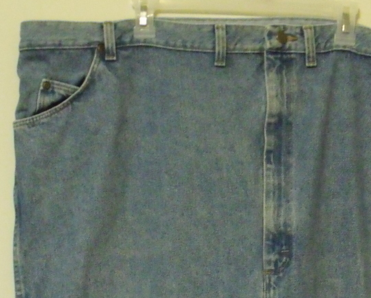 Mens Wrangler Rugged Wear Denim Blue Jeans Size 54 X 28