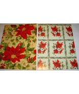 Two Large Sheets of Vintage Christmas Wrapping Paper UNUSED - $8.95
