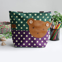 [Bear-Green] Tote Bag Middile Size(13.3*5.1*10.6) - $25.16 CAD