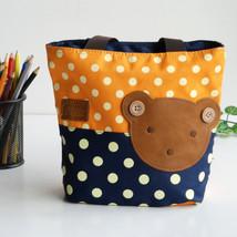 [Bear-Orange] Shopper Bag/Tote Bag-Small Size(9.4*2.7*7.8) - $16.99