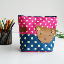 [Bear-Rosered] Shopper Bag/Tote Bag-Small Size(9.4*2.7*7.8) - $22.51 CAD