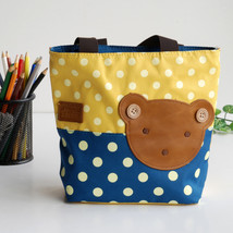 [Bear-Yellow] Shopper Bag/Tote Bag-Small Size(9.4*2.7*7.8) - $16.99