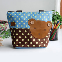 [Bear-Skyblue] Tote Bag Middile Size(13.3*5.1*10.6) - $18.99