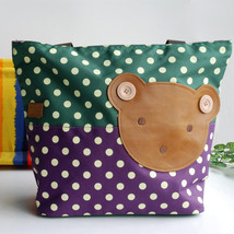 [Bear-Green] Tote Bag/Shopper Bag-Big Size(16.5*5.5*12.6) - $20.99