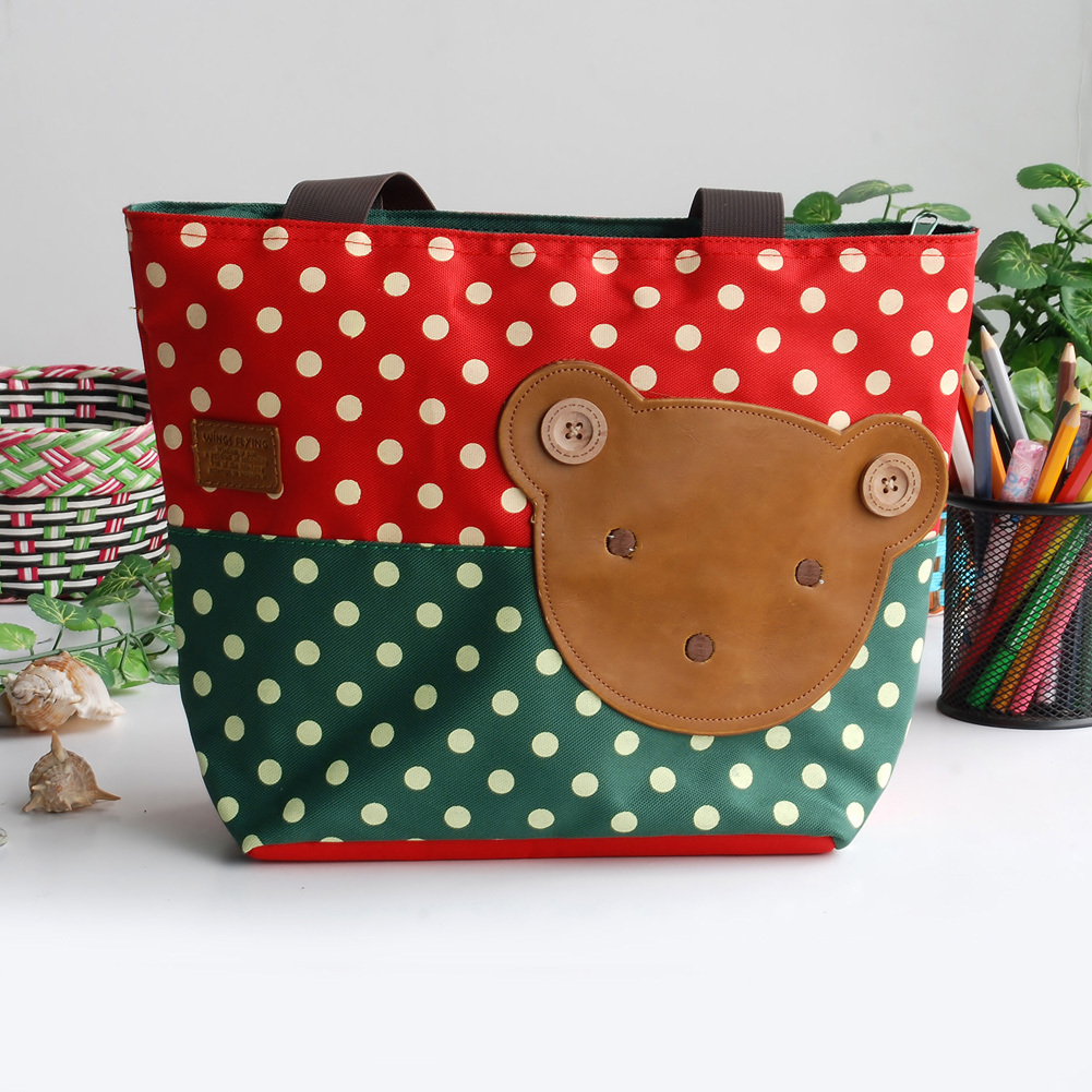 Primary image for [Bear-Crimson] Tote Bag Middile Size(13.3*5.1*10.6)