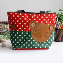 [Bear-Crimson] Tote Bag Middile Size(13.3*5.1*10.6) - $18.99