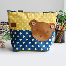 [Bear-Yellow] Tote Bag Middile Size(13.3*5.1*10.6) - $18.99