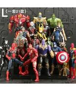 21Pcs/Set SaleMarvel Avengers Figure Super Heroes SpiderMan Black Panther Hulk C - $26.65 - $82.27