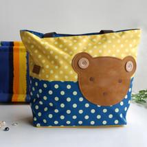[Bear-Yellow] Tote Bag/Shopper Bag-Big Size(16.5*5.5*12.6) - $20.99