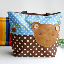 [Bear-Skyblue] Tote Bag Big Size(16.5*5.5*12.6) - $20.99