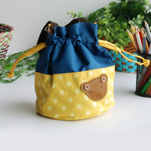 [Bear-Yellow] Bucket Bag Shopper Bag (5.7*6.3*7.8) - $20.99