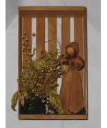 Vintage Corn Husk Doll Shadow Box - $9.99