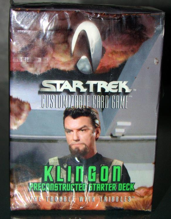 "Trading Cards - STAR TREK (Card Game) - KLINGON - ""THE TROUBLE WITH TRIBBLES"" - $6.00"