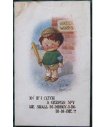 Bamforth & Co., WW II Propaganda Cartoon Post Card, German S - $8.00