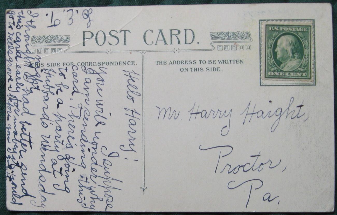 Full Bleed, color, Early Divided Back Era, postcard, Love Gr