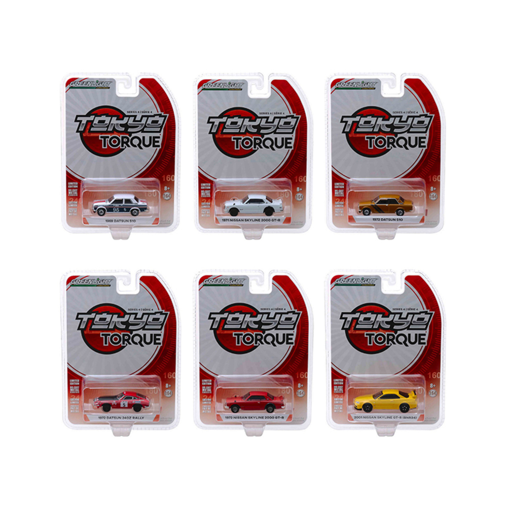 Tokyo Torque Series 4, Set of 6 Cars 1/64 Diecast Model Cars by Greenlight 47020