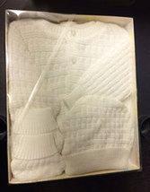 Baby's 3pc White Sweater Set For Newborns - $14.00