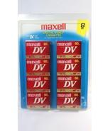 Maxell Mini DV Blank Digital Video Cassette Tapes 8 Pack for Camcorders - $26.72