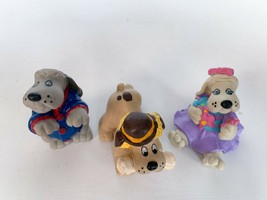 Vintage 1986 Pound Puppy Puppies PVC toy Figure Lot of 3 HONG KONG smoke-FREE - $20.00
