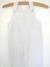 White linen dungaree, Christening dungaree, white baby romper, baby boy ... - $29.00
