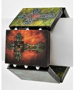 Celtic Cross Decoupage Tattoo Art Bracelet Paper Statement Goth Silver B... - $15.25