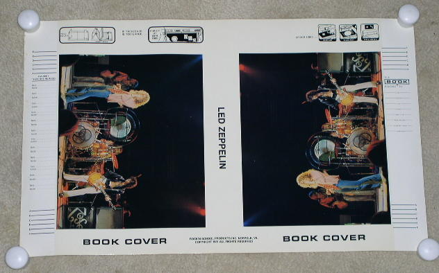 LED ZEPPELIN CONCERT BOOK COVER VINTAGE 1981