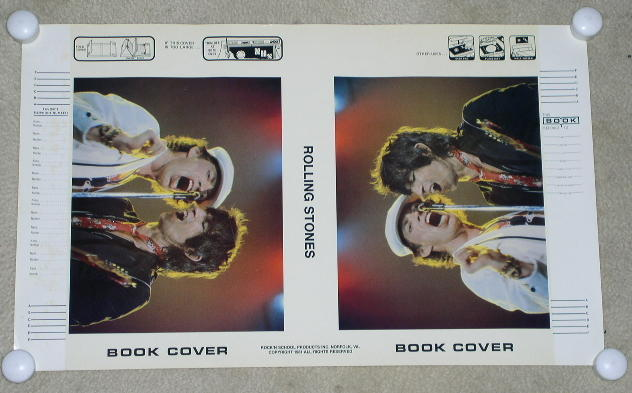 ROLLING STONES CONCERT BOOK COVER VINTAGE 1981
