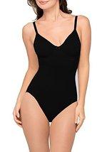 Body Wrap Women's Underwire Soft Cup Bodysuit Shapewear, Black, 1X - $46.10