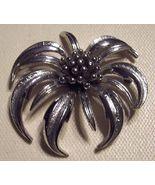 Vintage Marboux Silvertoned Brooch Chrysanthemum - $30.00