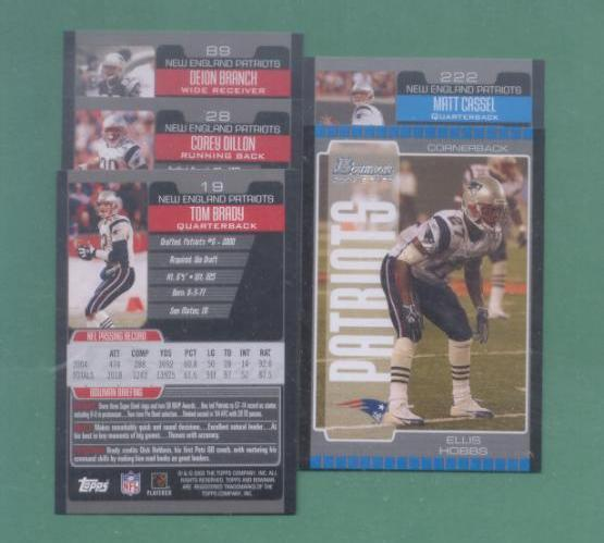 2005 Bowman New England Patriots Football Team Set