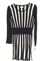 NEW Women's Calvin Klein Long Sleeve Two-Tone Fit Flare Sweater Dress Me... - $29.69