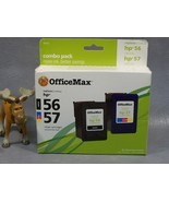 HP56 and HP57 Office Max Combo Ink CartridgesOffice Max Combo Pack OM962... - $24.99