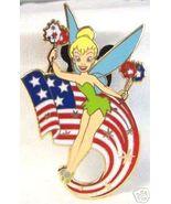 DISNEY PATRIOTIC TINKERBELL TINK FLAG PIN NEW - $23.99