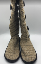 MUK LUKS Women's Knee Length Tan Sock Boots With Buttons Size 10 - $32.98