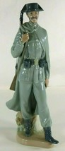 "Retired Lladro Guardia de Civil Spanish Policeman Soldier 11.5"" Figurine... - $194.00"