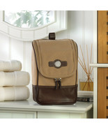 Personalized Canvas and Leather Travel Kit Travel Bag Gifts - $51.10