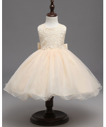 Cute Champagne Flower Girl Dress Short Kids Princess Ball Gowns For Age ... - $36.00