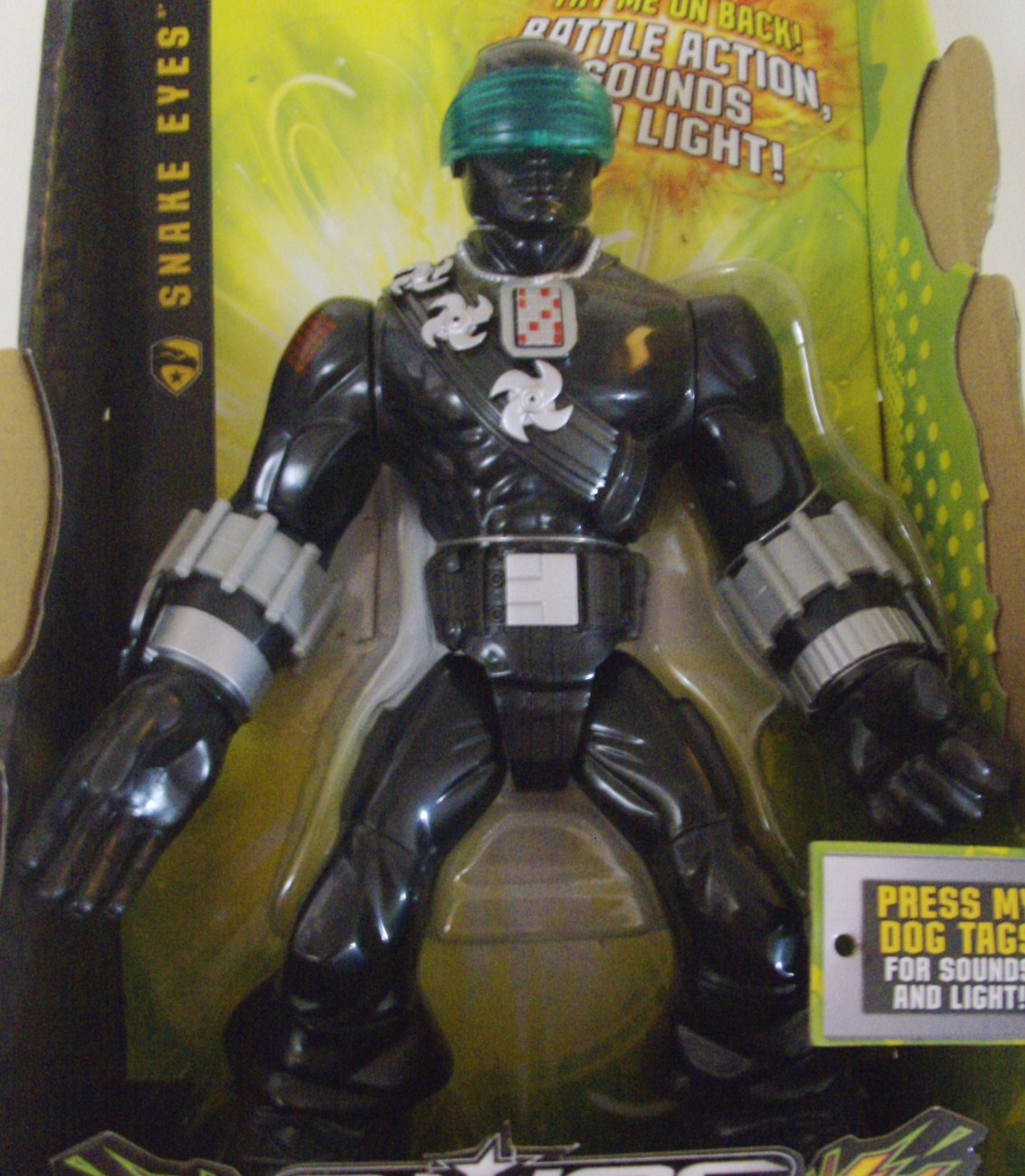 G.I. Joe Tough Troopers Battle Action, Sounds and Light! Snake Eyes Ninja - New