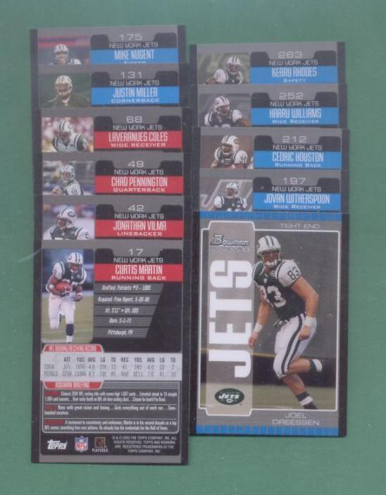 2005 Bowman New York Jets Football Team Set