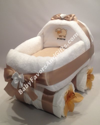 Baby Carriage Diaper Cake Unisex - see more colors