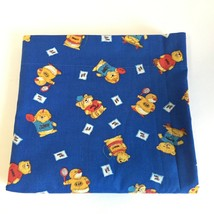 Shirt Tales Twin Single Bed Sheet Kids Hallmark Animals Cartoon Vintage... - $19.68